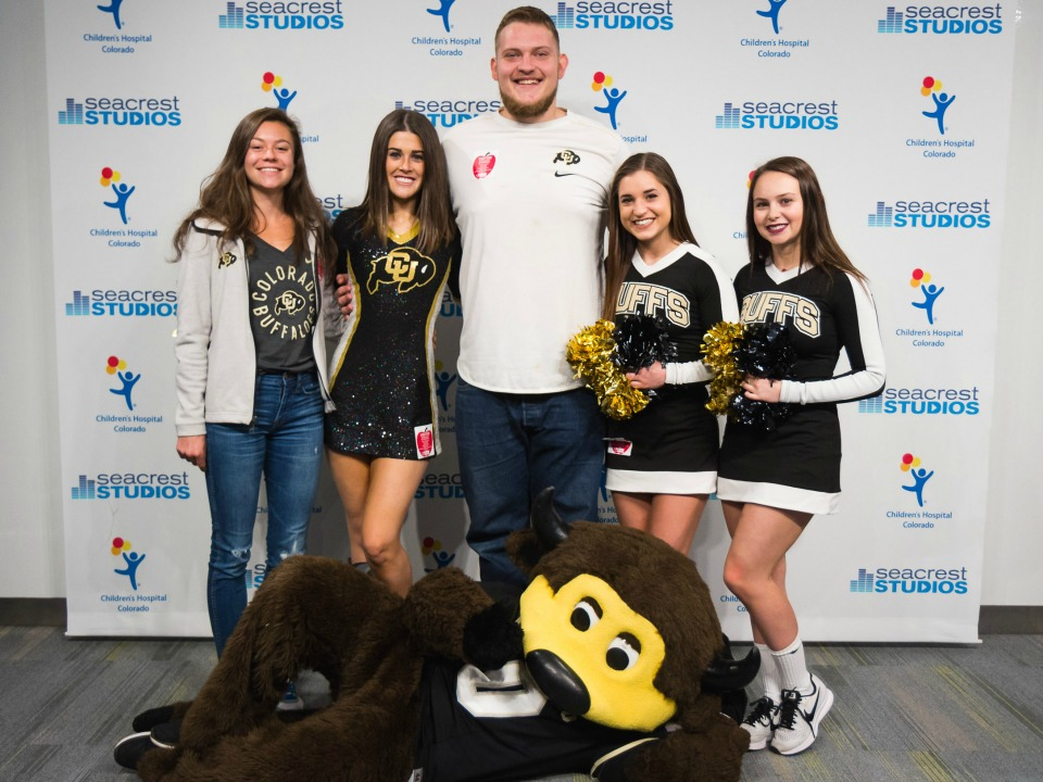 CU Buffaloes and Children's Colorado partnership event at Seacrest Studios