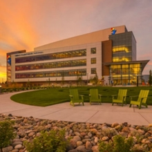 Children's Hospital Colorado at sunset