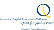 The logo for the American Hospital Association-McKesson Quest for Quality Prize.