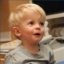 Headshot of two-year-old Brooks Furgholt, the first patient at Children's Hospital Colorado South Campus.
