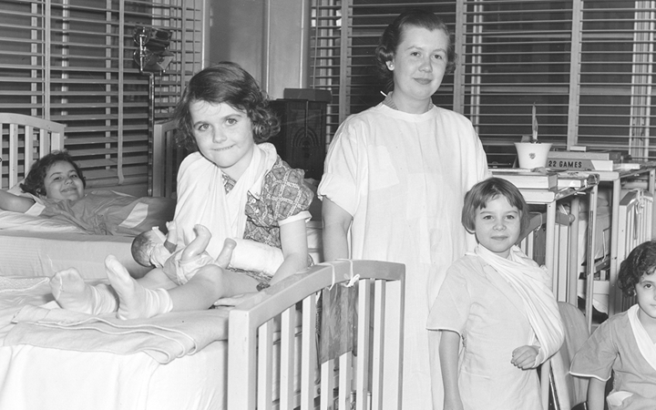 Children's hospital patients in the girls ward in 1937