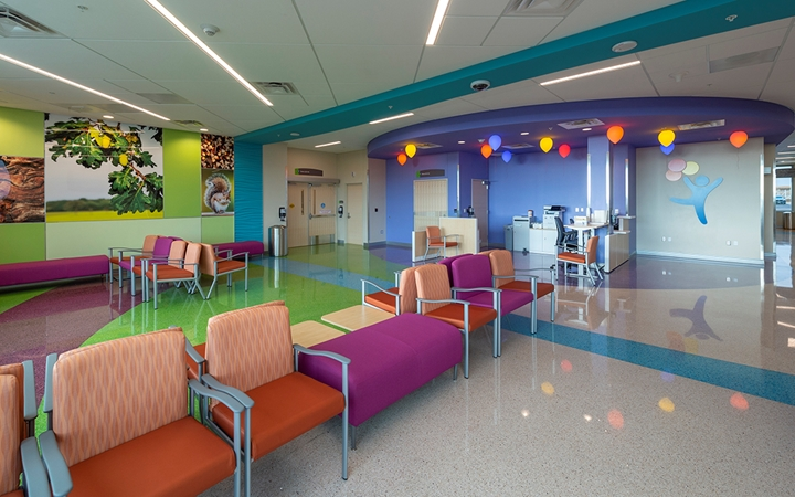 North Campus emergency care and urgent care waiting area