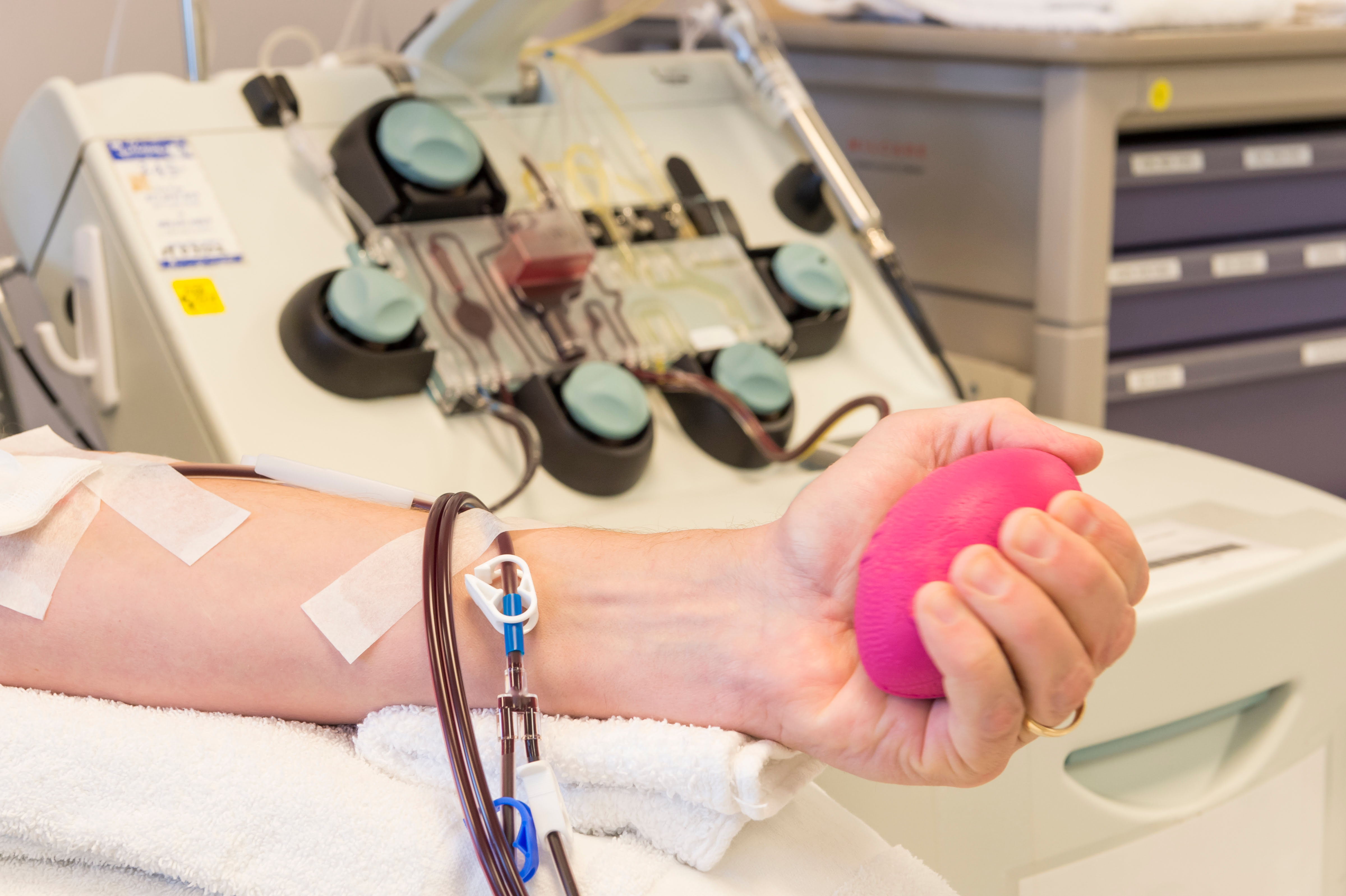 Patient giving blood