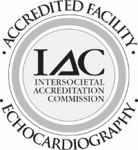 This is a logo for the Intersocietal Accreditation Commission. The IAC accredits imaging facilities and hospitals specific to echocardiography. IAC accreditation is a means by which facilities can evaluate and demonstrate the level of patient care they provide.