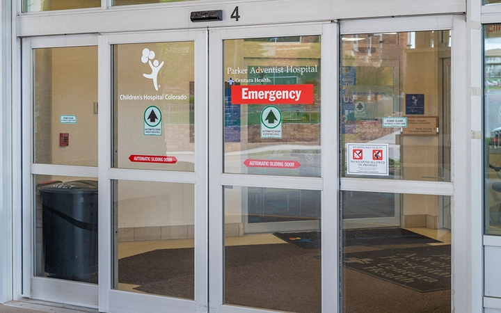Emergency Care, Parker patient entrance