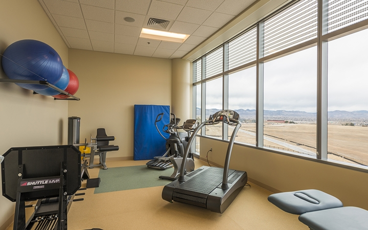South Campus sports medicine and therapy gym