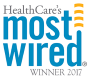 Logo for winning HealthCare's most wired award in 2017.