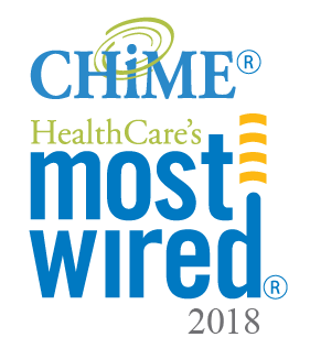 Logo for HealthCare's most wired winner in 2018