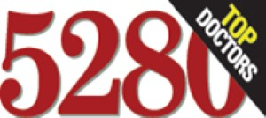 The red 5280 magazine logo with a designation for Top Doctors.