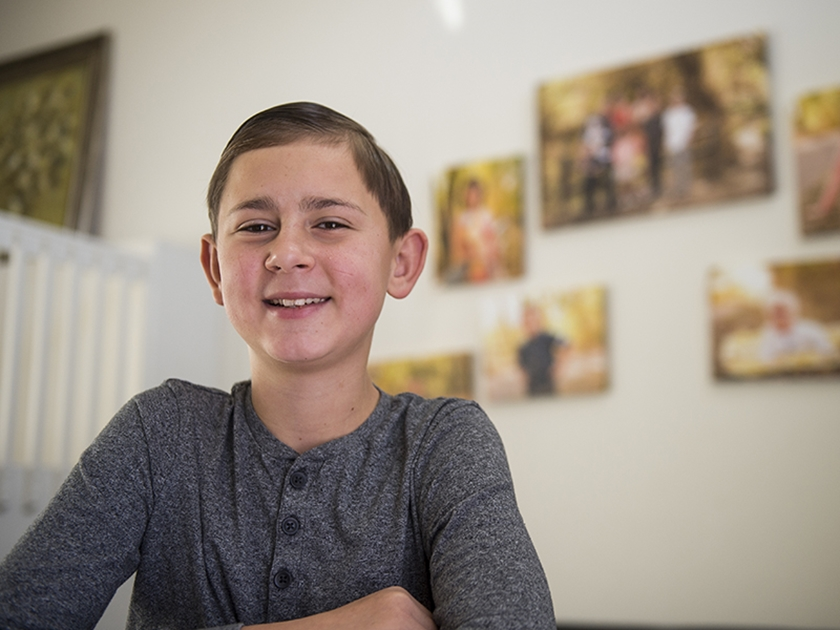 Alex Pidkalyuk, kidney and liver transplant patient at Children's Hospital Colorado.