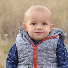Toddler Chase, who survived being born with CDH.