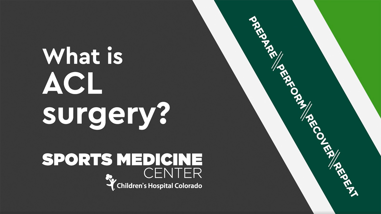 What is ACL Surgery video image