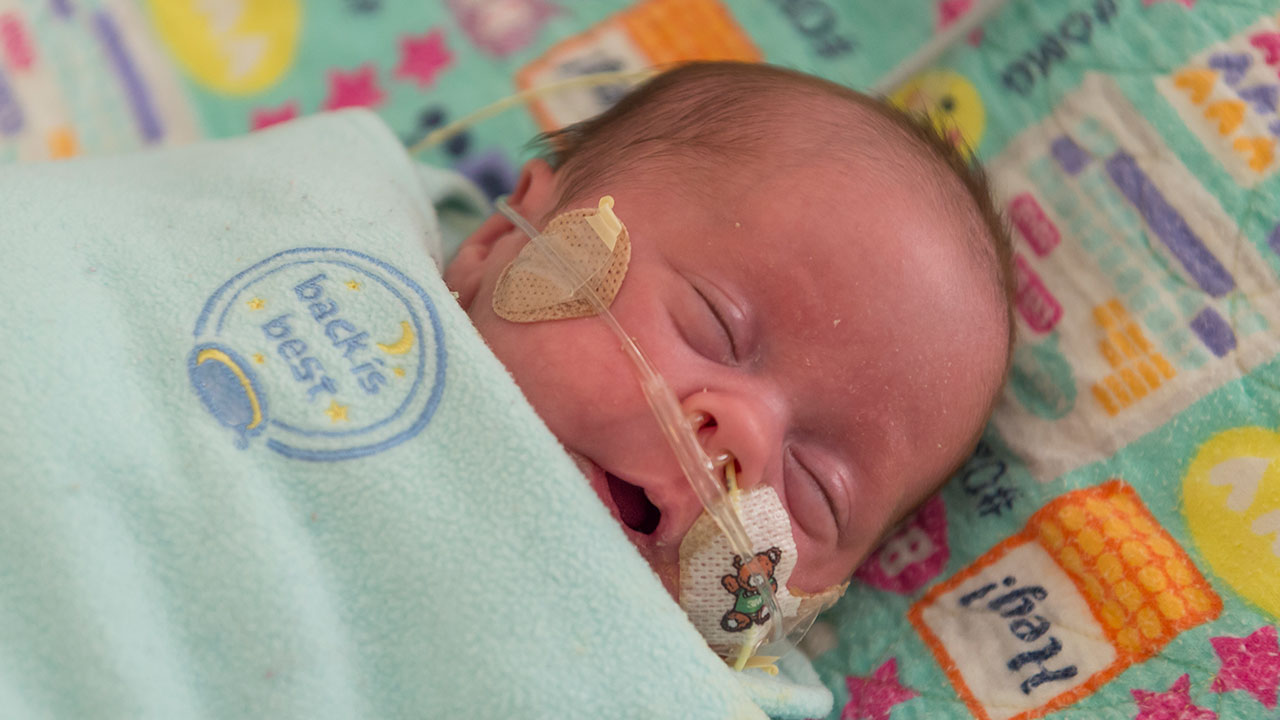 A baby in the NICU
