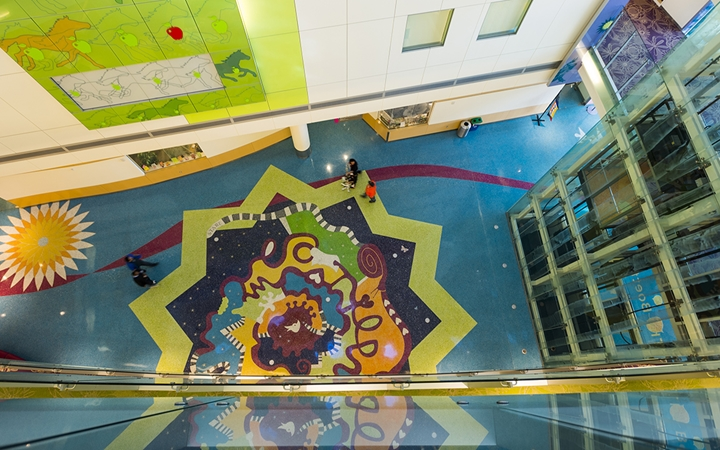Children's Hospital Colorado atrium entrance