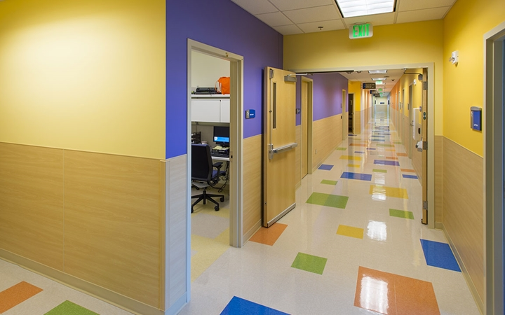 Exam hallway at Children's Colorado at Briargate