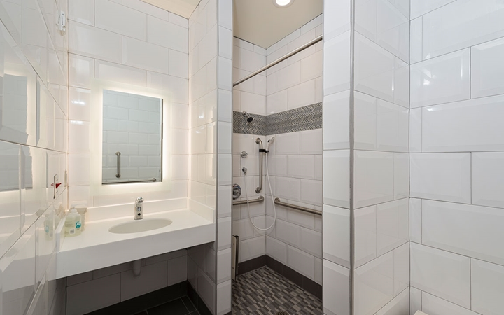 Guest bathroom in the Family Resource Center