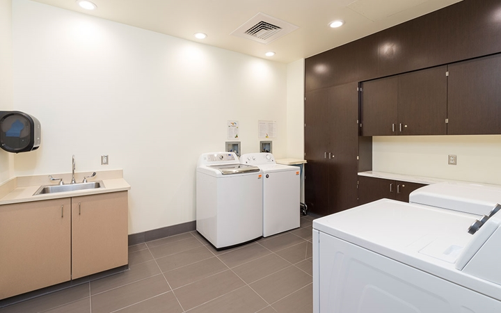 Laundry facilities available at the Family Resource Center