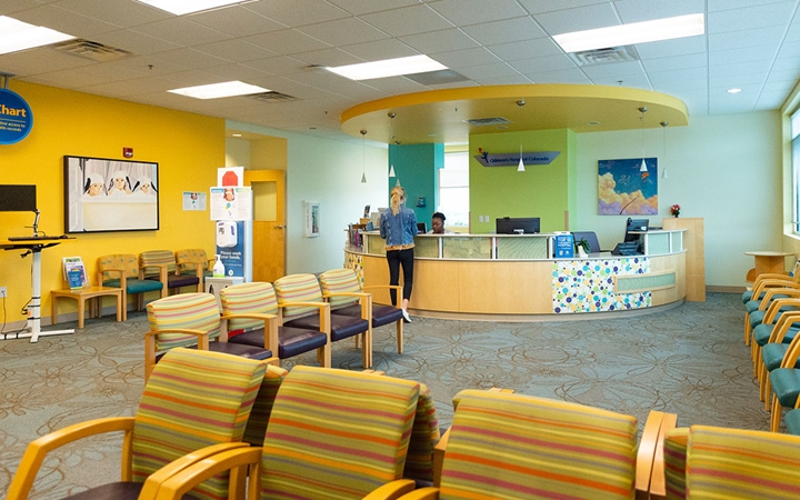 Patient waiting area at Outpatient Care, Parker