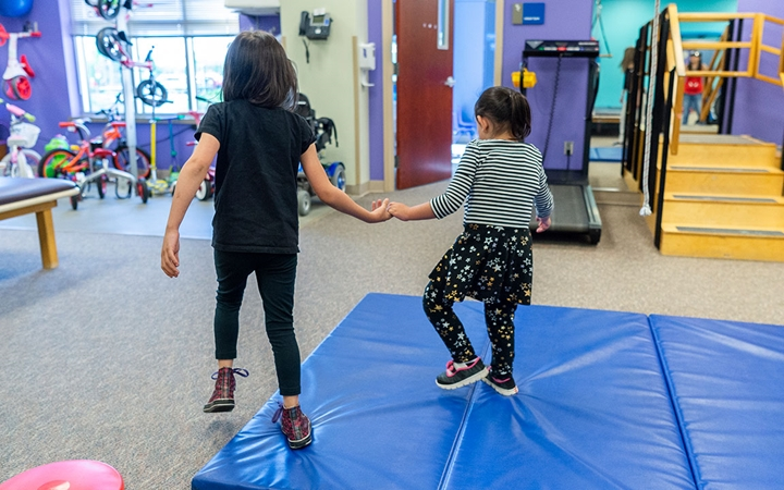 Printers Park Therapy patients in play area