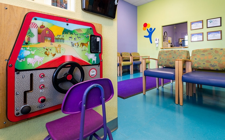 Therapy Care at Pueblo patient play area in waiting room