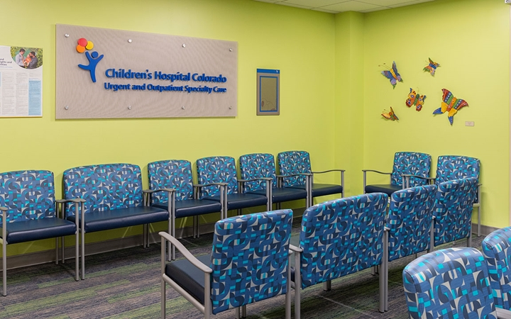 Children's Colorado Outpatient and Urgent Care, Wheat Ridge waiting room