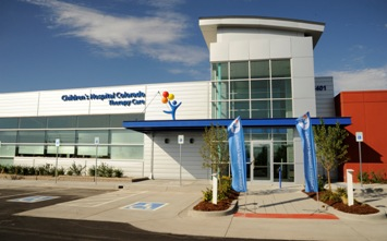 The front of the Broomfield Therapy Care building at its opening.