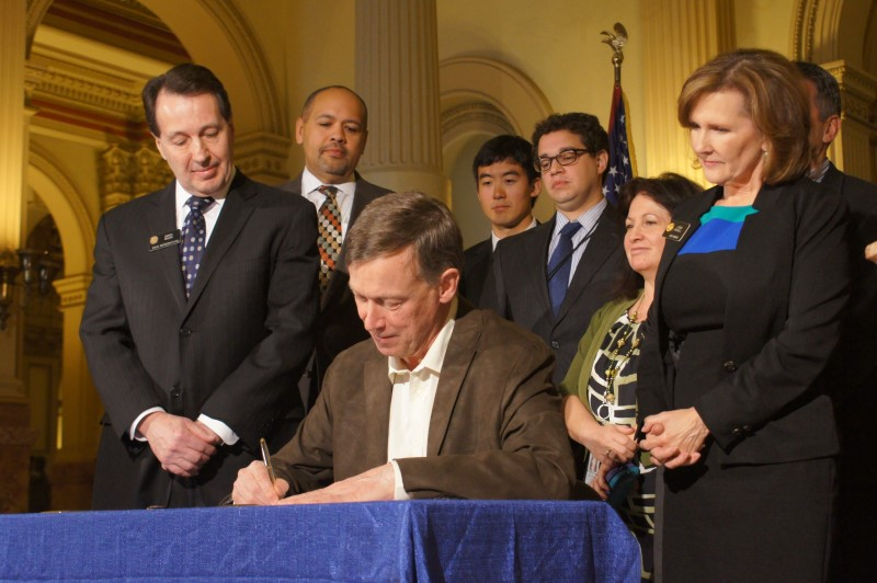 Colorado Governor Hickenlooper signs marijuana safe-packaging bill