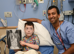 Ryan Viano, 10, and Dr. Sumeet Garg