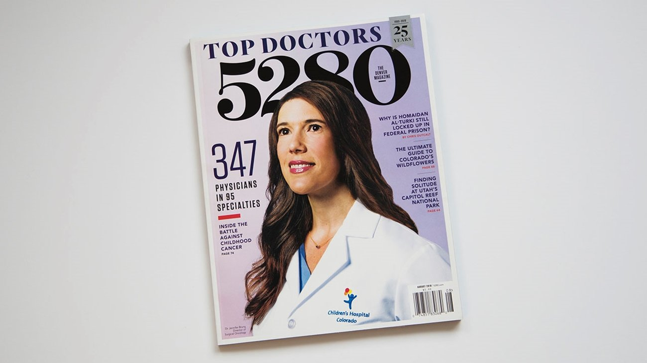 A female Children's Colorado doctor is on the cover of 5280 Magazine.